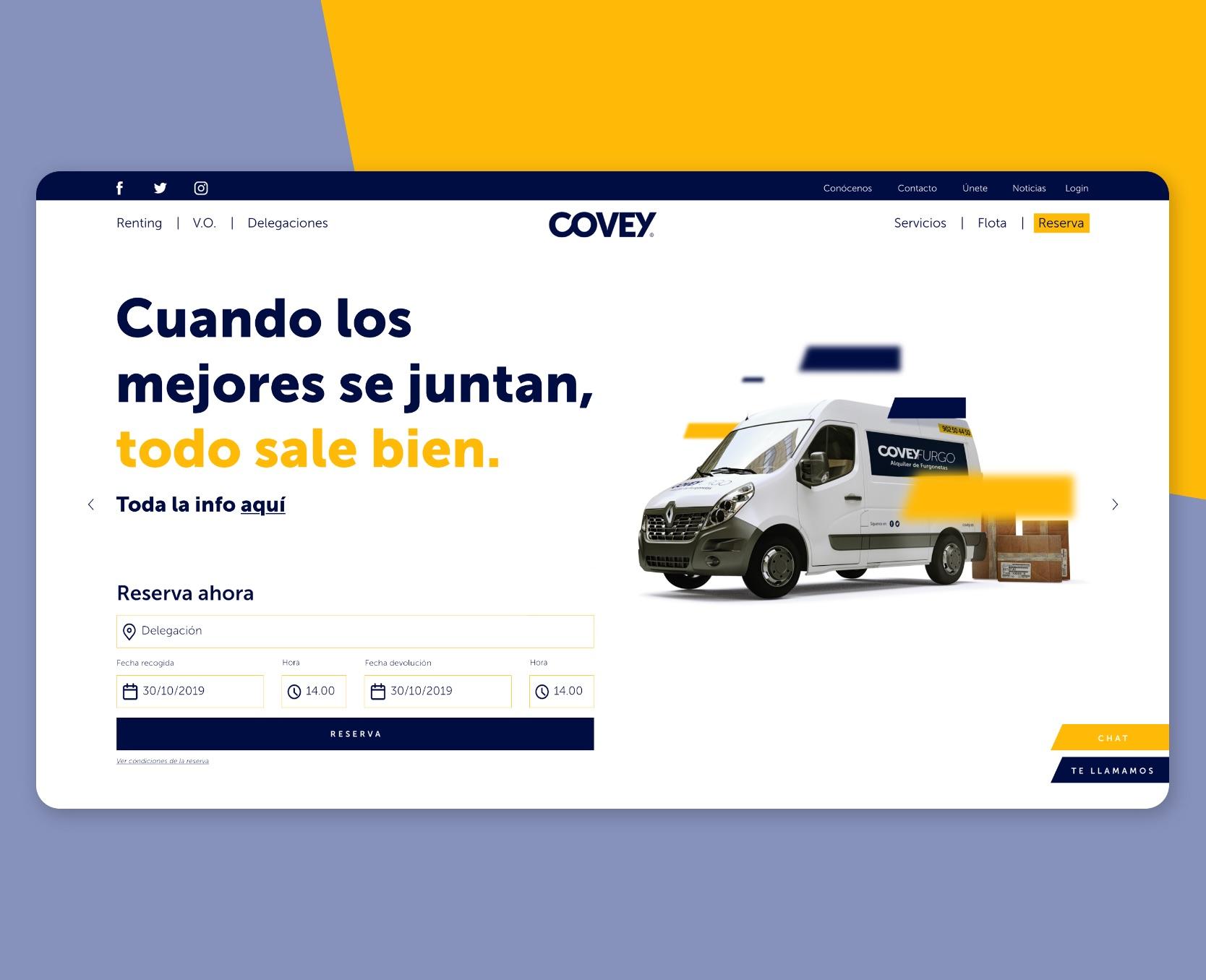 diseño y desarrollo web Covey
