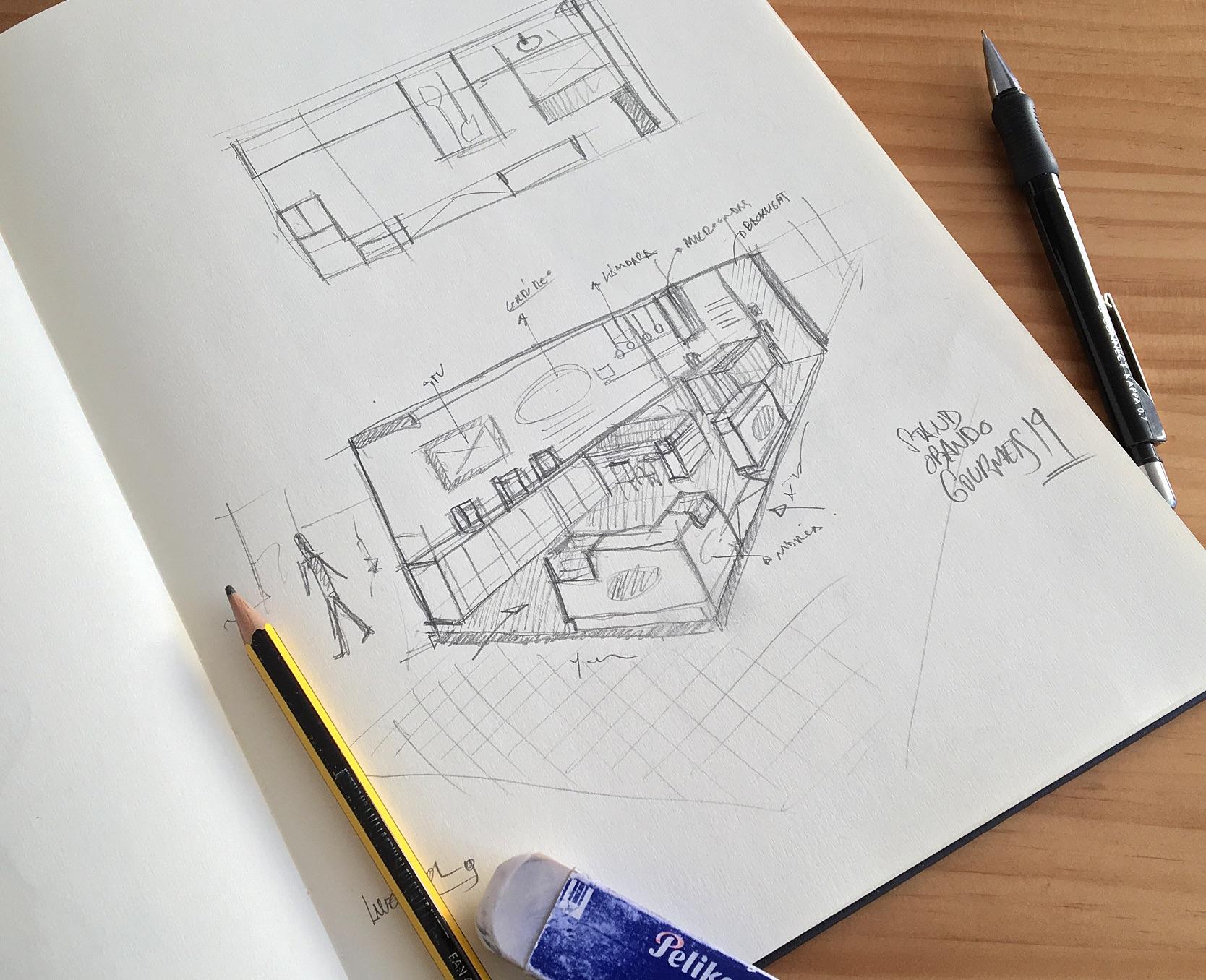 diseño stand Panadería Obando