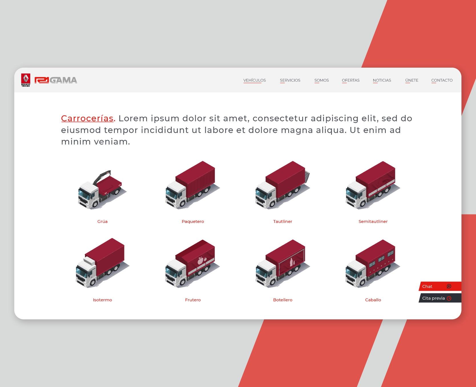 diseño y desarrollo web R1 Gama